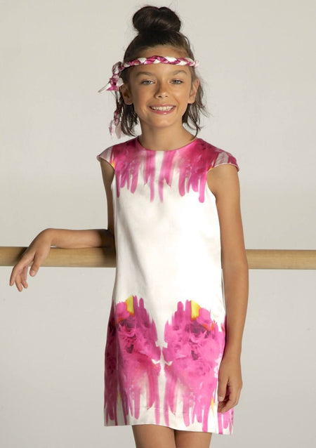 Aria Summer Bloom Dress - Purple