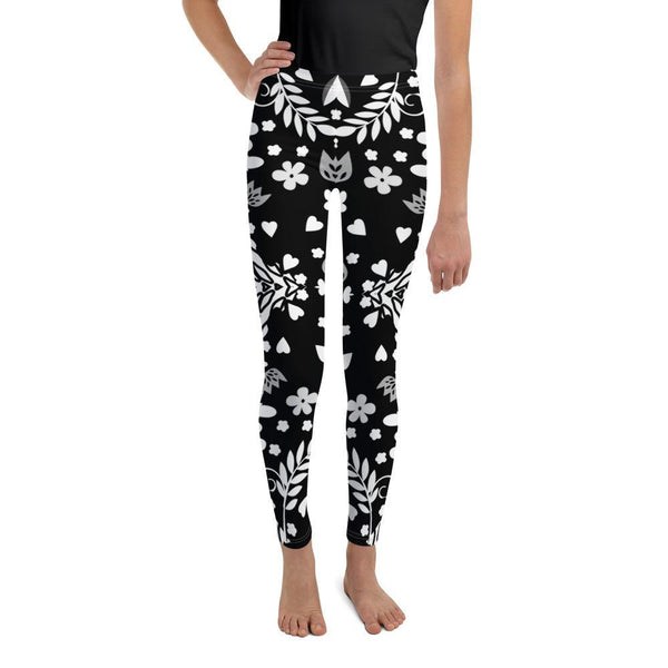Leggings - Black Abstract Leggings