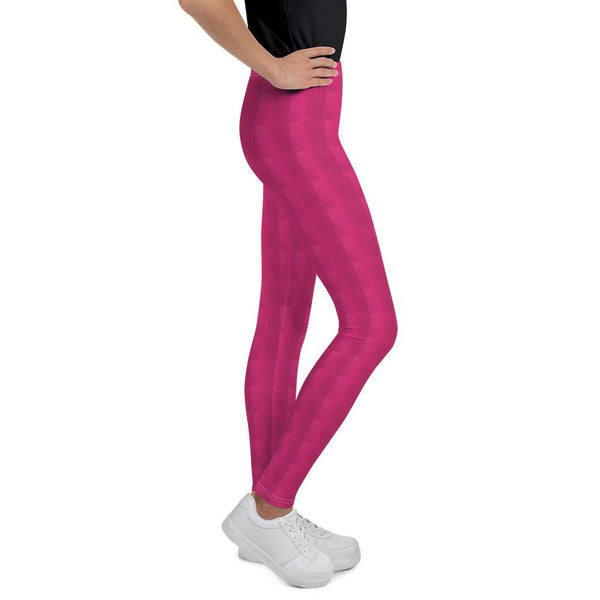 Leggings - Checkered Effect Fuchsia Leggings