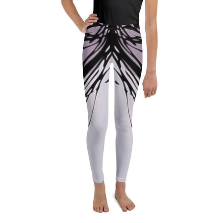 Black Abstract Leggings