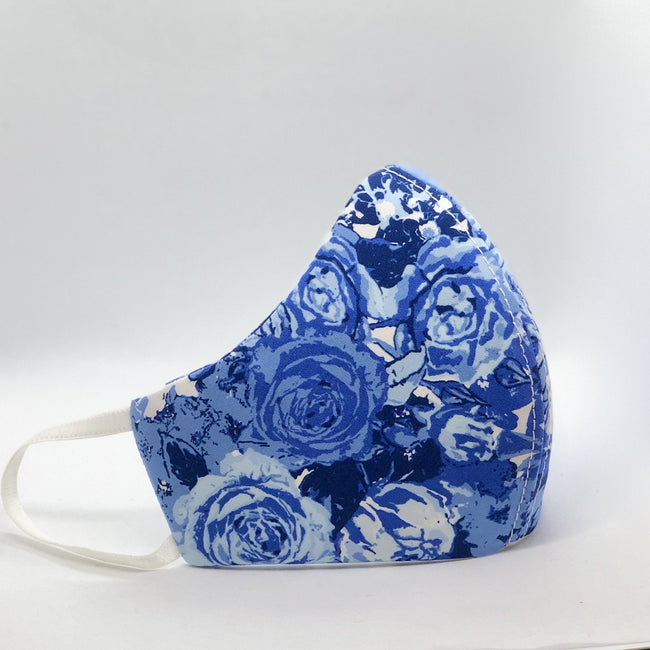 Mask - Blue Blooms Face Mask