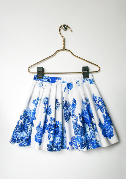 Separates - Aria Blue Blooms Skirt