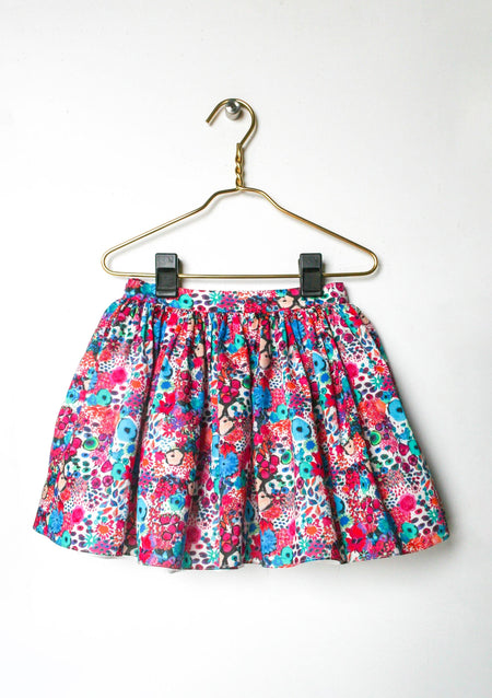 Aria Blue Blooms Skirt