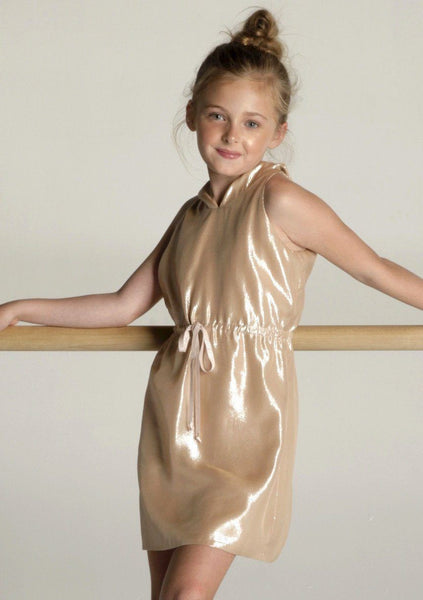 Special Occasion - Angelina Rose Metallic Hoodie Dress