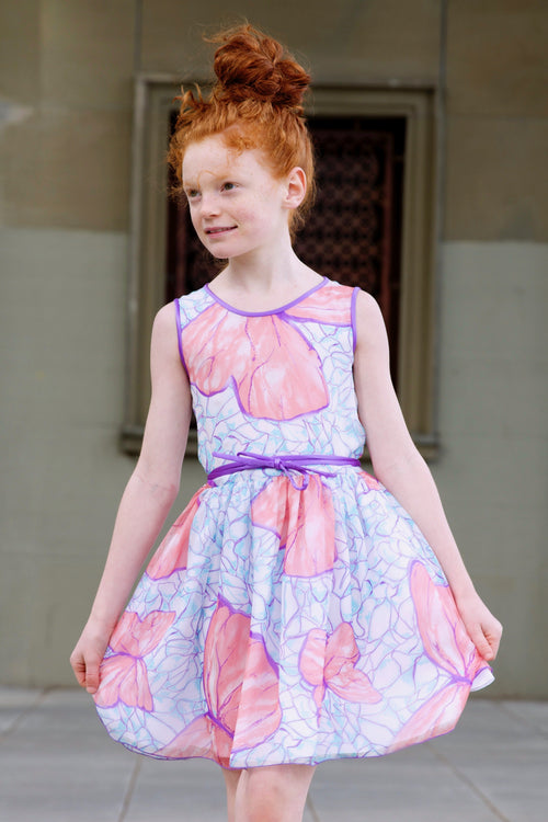Special Occasion - Butterfly Chiffon Dress