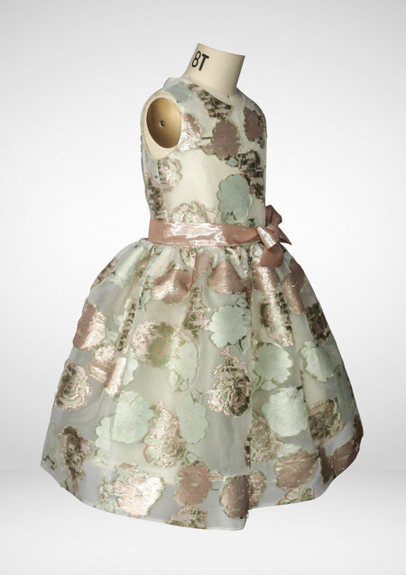 Pastel Floral Jacquard Shift Dress