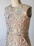 Special Occasion - Pastel Floral Jacquard Shift Dress