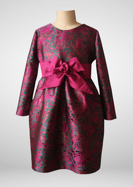 Brianna 'Passion Flower' Long Sleeved Dress