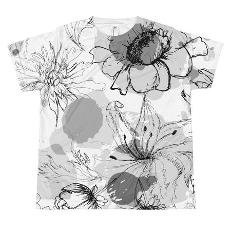 Girl in Yellow Blooms & Butterflies Dress T-shirt