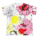 T-shirt - Allover Floral Print T-shirt - Pink