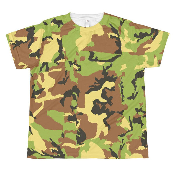 T-shirt - Allover Green Camouflage T-shirt