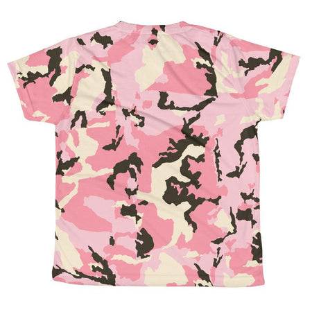 Allover Floral Print T-shirt - Pink