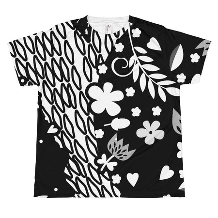 Allover Grey Abstract Print T-shirt