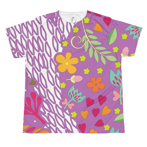 T-shirt - Lilac Abstract T-shirt