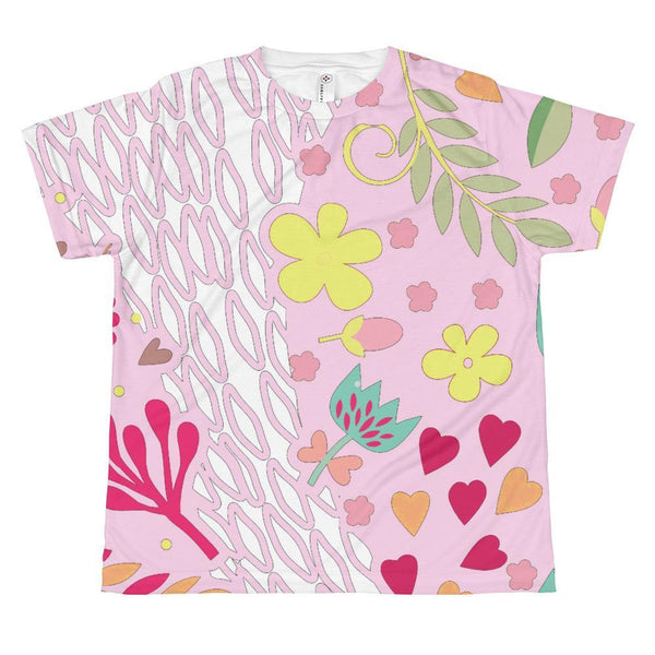 T-shirt - Pink Abstract T-shirt