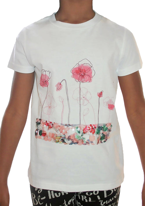T-shirt - Pink Rose Sequin T-shirt