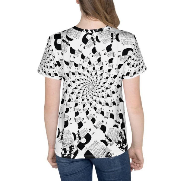 T-shirt - Spiral Black & White T-shirt