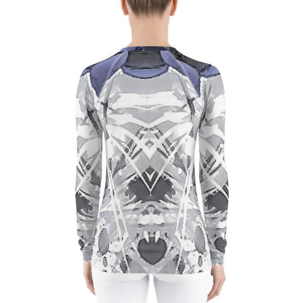 Womens Top - Women's Allover Abstract Print Rash Guard II
