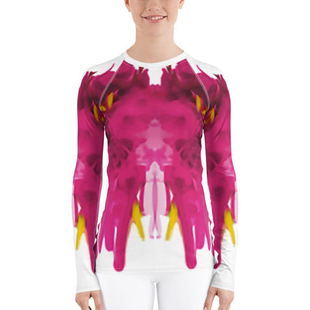 Women's Allover Abstract Print Rash Guard II