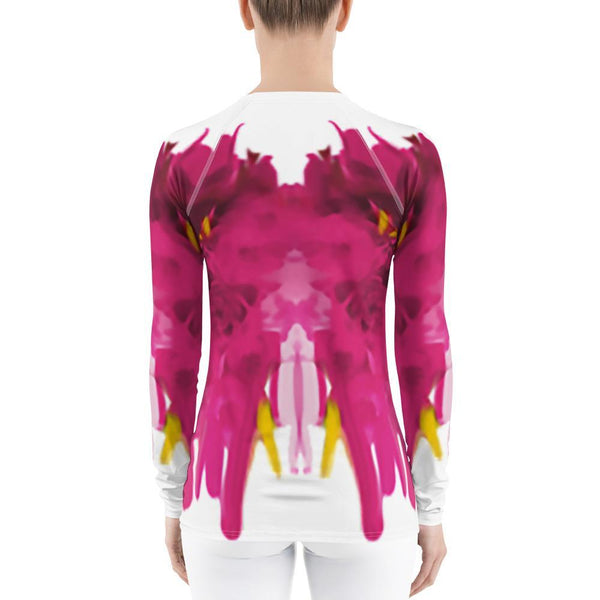 Womens Top - Women's Fuchsia Rash Guard