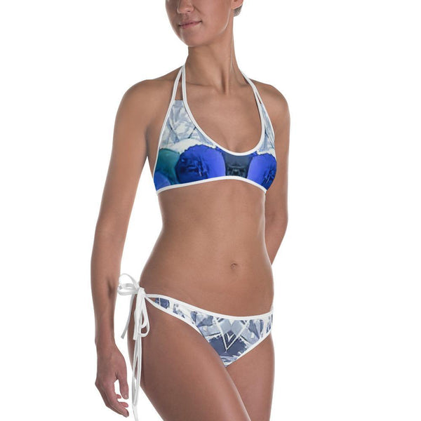Womens Top - Women's Reversable Abstract Print Bikini