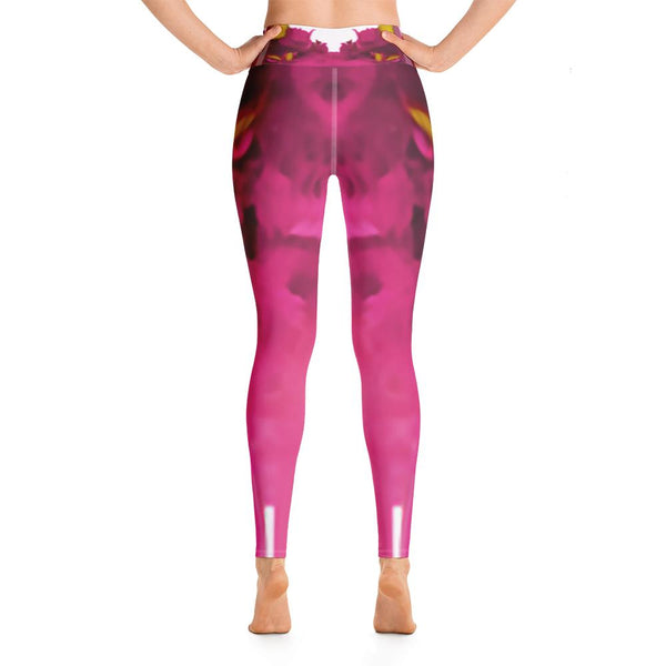 Womens - Women's Fuchsia Yoga Leggings