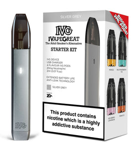 IVG Pod Starter Kit - Silver Single pack