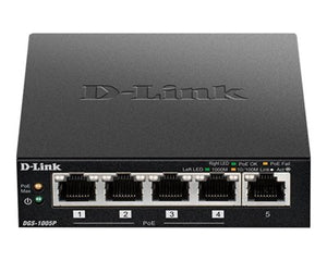D-Link DGS-1005P Gigabit PoE+ Switch 60W