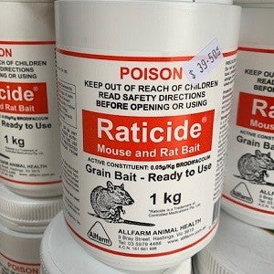RATICIDE POISON (GRAIN) 1 KG