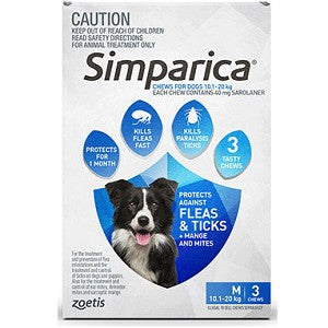 SIMPARICA FOR DOGS CHEWS 3 PACK