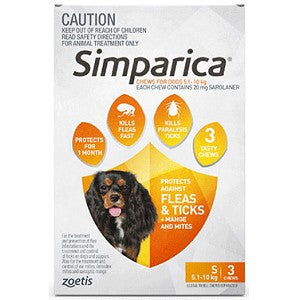 SIMPARICA FOR DOGS 6 PACK