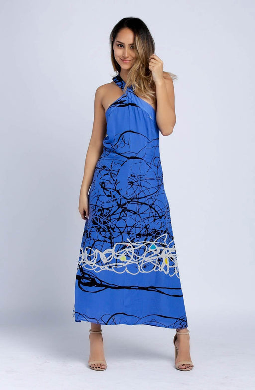 Catch Twisted Neckline Maxi Dress