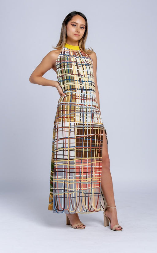 """Twine Theory"" Silk Maxi Dress - Peter Stephens"