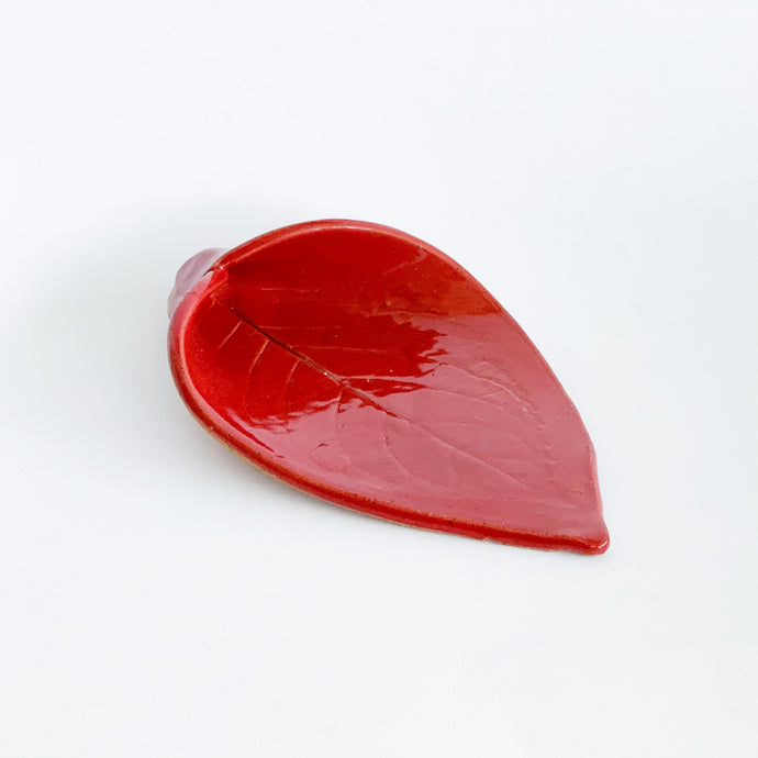 Red Ceramic Spoon Rest
