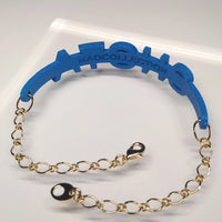 Bracelet - SHOTA (blue, gold chain)