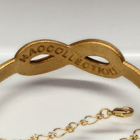 Bracelet - INFINITY (gold, gold chain)