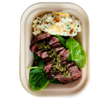 Load image into Gallery viewer, Chimichurri Steak with Loaded Cauliflower Mash