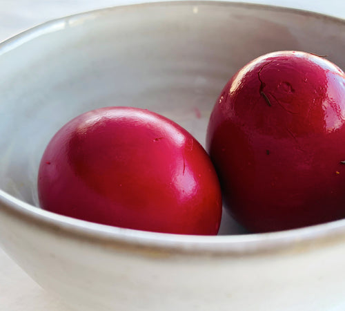 Beet Pickled Hard-Boiled Eggs