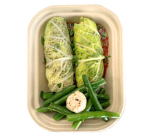 Load image into Gallery viewer, Beef Stuffed Cabbage Rolls with Gremolata Butter Green Beans