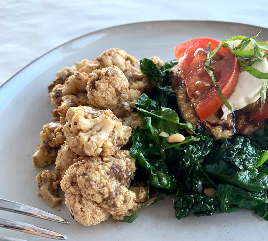 Italian Chicken with Umami Roasted Cauliflower
