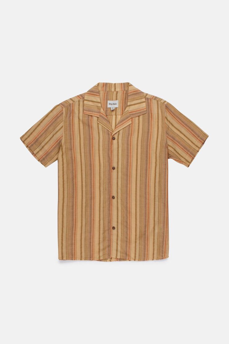 Vacation Stripe Ss Shirt Citrus