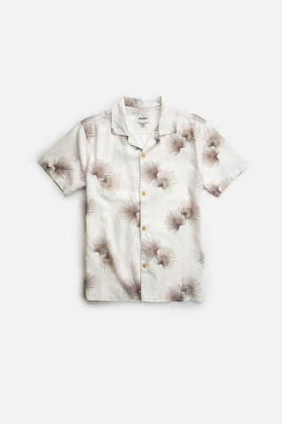 La Casa Palm Ss Shirt Natural