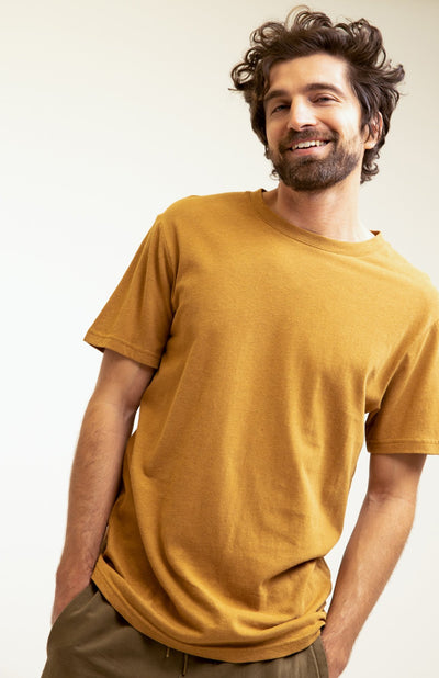 Essential Linen T-Shirt Tobacco