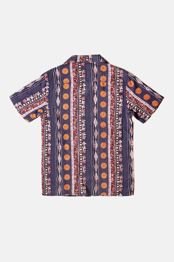 CANGGU STRIPE SS SHIRT NAVY