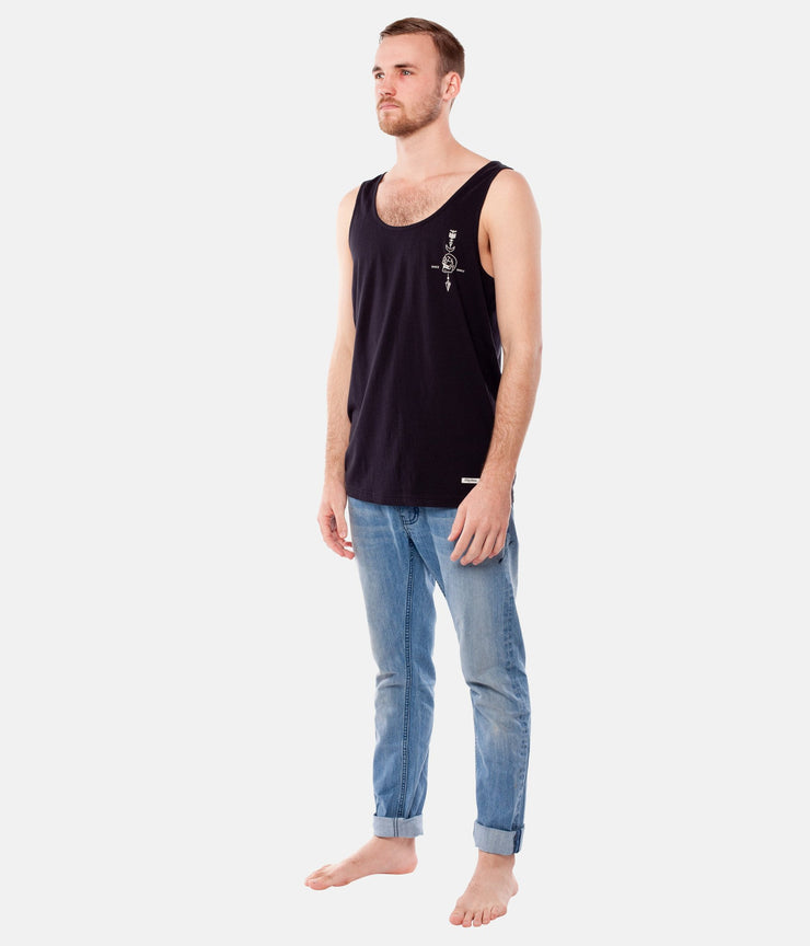 SUPPLY CO SINGLET BLACK