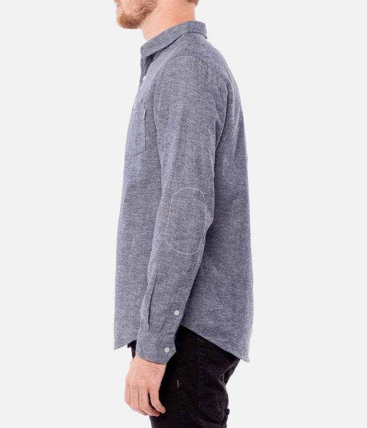 COLLINS LS SHIRT BLUE