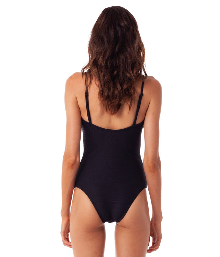 PALM SPRINGS BANDEAU ONE PIECE BLACK