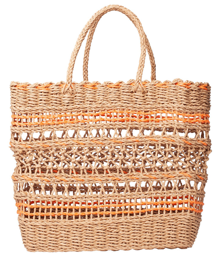 LAGOS BEACH BAG TANGERINE