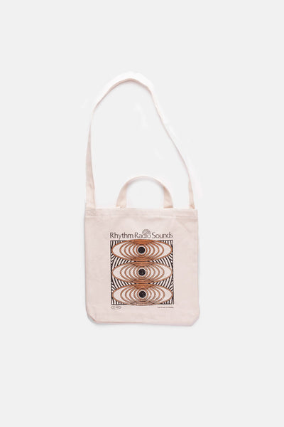 RADIO SOUNDS TOTE NATURAL WHITE