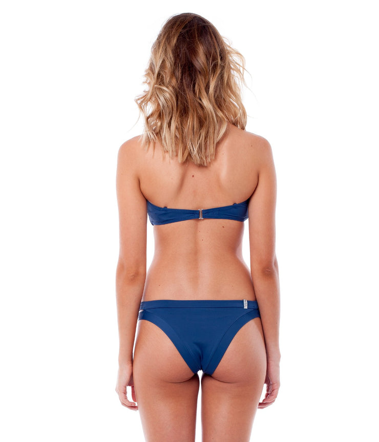 NORTH SHORE BANDEAU TOP NAVY